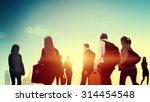 business people walking... | Shutterstock . vector #314454548