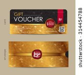 gift voucher template with... | Shutterstock .eps vector #314454788