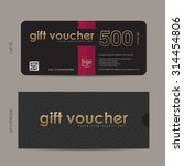 gift voucher template with... | Shutterstock .eps vector #314454806