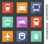 simple flat transport icons set ... | Shutterstock .eps vector #314454920