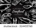 Vector Vintage Seafood...
