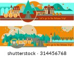 landscapes and cityscape with... | Shutterstock .eps vector #314456768