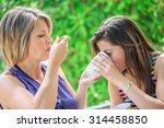 mother and daughter are... | Shutterstock . vector #314458850