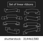 set of linear ribbons. thin... | Shutterstock .eps vector #314461580
