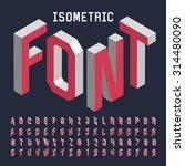3d isometric alphabet font.... | Shutterstock .eps vector #314480090