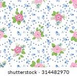 shabby chic roses seamless... | Shutterstock .eps vector #314482970