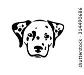 dalmatian dog   vector... | Shutterstock .eps vector #314490686