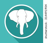 elephant icon | Shutterstock .eps vector #314491904