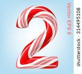 mint hard candy cane vector... | Shutterstock .eps vector #314495108