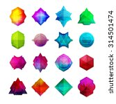 a set of colored gemstones in... | Shutterstock .eps vector #314501474