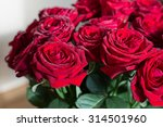 Stock photo bouquet of red roses closeup 314501960