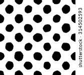 hand drawn seamless dot pattern.... | Shutterstock .eps vector #314502593