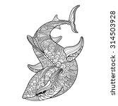vector tribal decorative shark. ...   Shutterstock .eps vector #314503928