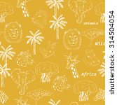seamless pattern with wild... | Shutterstock .eps vector #314504054