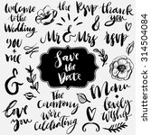 wedding calligraphy and... | Shutterstock .eps vector #314504084