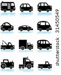 vehicle icon black set ... | Shutterstock .eps vector #31450549