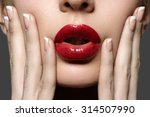 face part. beautiful full... | Shutterstock . vector #314507990