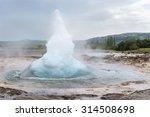 the great geyser erupting.... | Shutterstock . vector #314508698