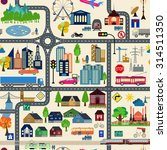 city map generator. city map... | Shutterstock .eps vector #314511350