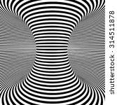 Optical Art Object. Spiral Wit...