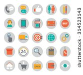 big set of flat icons for... | Shutterstock .eps vector #314523143