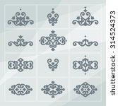 set of tatar ornamental...   Shutterstock .eps vector #314524373