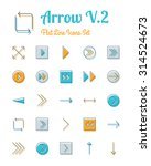 vector arrow icons set flat...