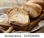 freshly baked ciabatta bread on ... | Shutterstock . vector #314528483