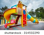 colorful children playground in ... | Shutterstock . vector #314532290