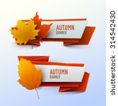 set of vector banners with... | Shutterstock .eps vector #314542430