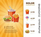 fast food menu template with... | Shutterstock .eps vector #314543948