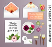 wedding card or invitation with ... | Shutterstock .eps vector #314556014
