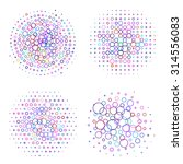 set of four round bubbles... | Shutterstock .eps vector #314556083