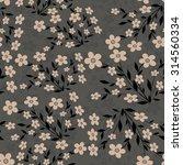 seamless floral pattern | Shutterstock .eps vector #314560334