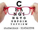 red spectacles focusing on text ... | Shutterstock . vector #314563598