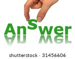 word answer isolated on white... | Shutterstock . vector #31456606