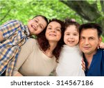 cheerful family. | Shutterstock . vector #314567186