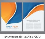 vector blue and orange business ... | Shutterstock .eps vector #314567270
