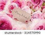 happy birthday greeting card   Shutterstock . vector #314570990