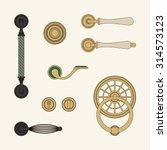 classic door handles | Shutterstock .eps vector #314573123