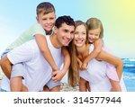 beach holidays. | Shutterstock . vector #314577944
