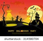 vector halloween banner with... | Shutterstock .eps vector #314580704