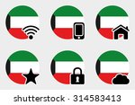a web icon set with the flag of ... | Shutterstock .eps vector #314583413