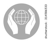 earth in hands icon. hands...   Shutterstock .eps vector #314586533