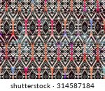 ethnic geometric background... | Shutterstock .eps vector #314587184