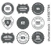 vintage emblems  labels. cash... | Shutterstock .eps vector #314587784
