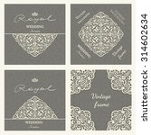collection of retro invitations ... | Shutterstock .eps vector #314602634