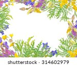 stylized frame floral bouquet...   Shutterstock . vector #314602979