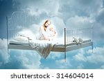 sleeping woman. girl with a... | Shutterstock . vector #314604014