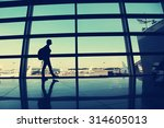 traveler at the airport.... | Shutterstock . vector #314605013